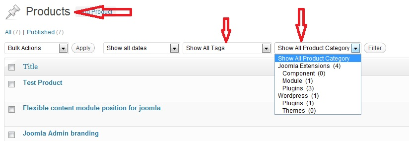 Showing custom taxonomy filter in custom post types in wordpress admin post listing